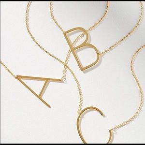 NWT Anthropologie Initial Letter Necklace